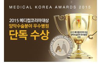 2015 메디컬코리아대상 단독 수상